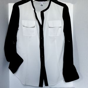 Calvin Klein Blouse 2 pocket career Shirt xs/tp